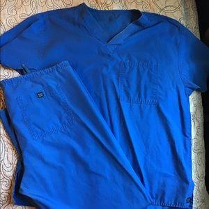 Blue scrubs